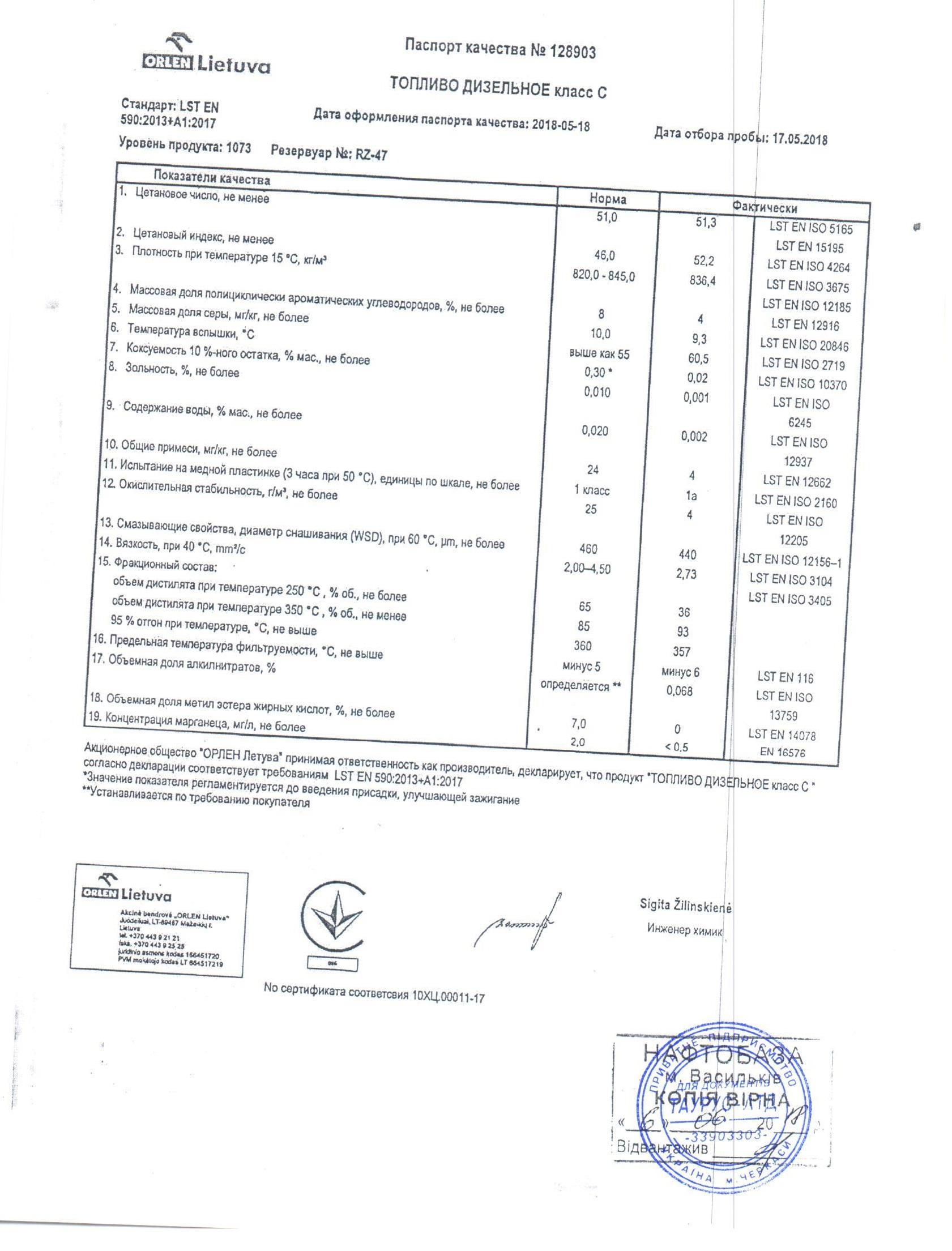 ДТ (сертификат)